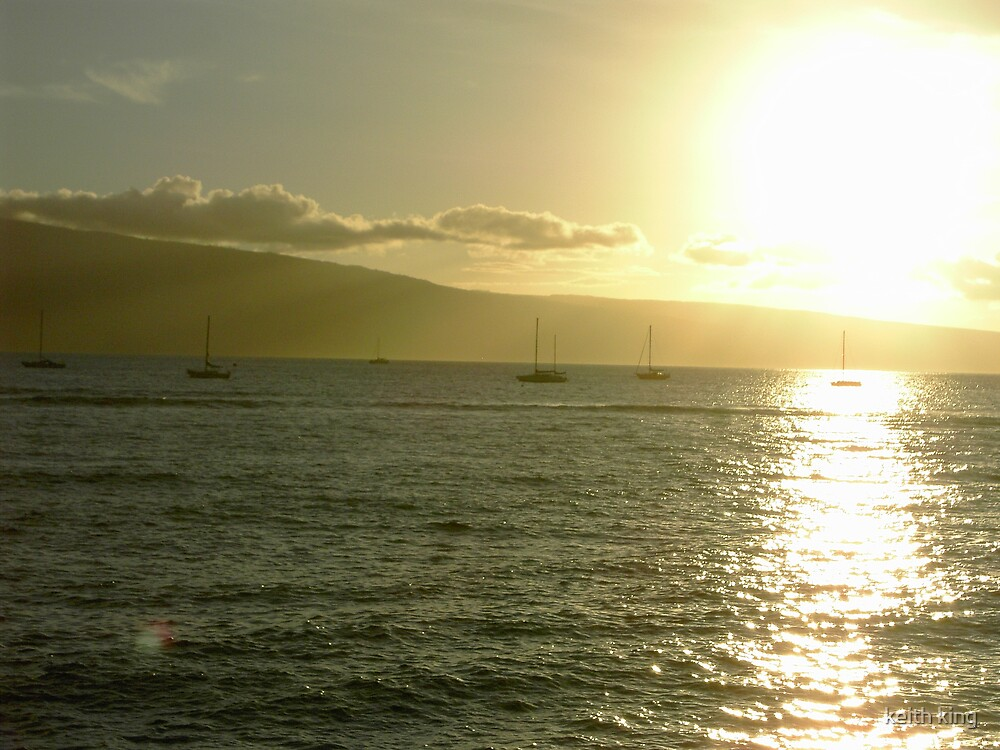 Sunset in Maui by keith king