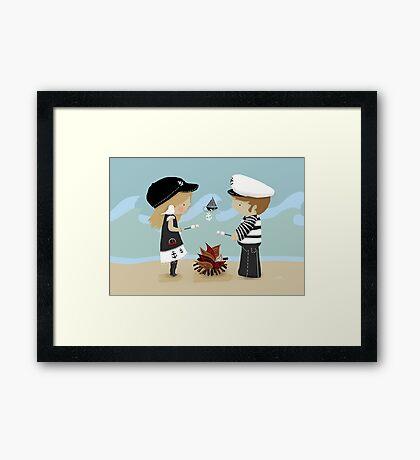 Toasting Marshmallows Framed Print