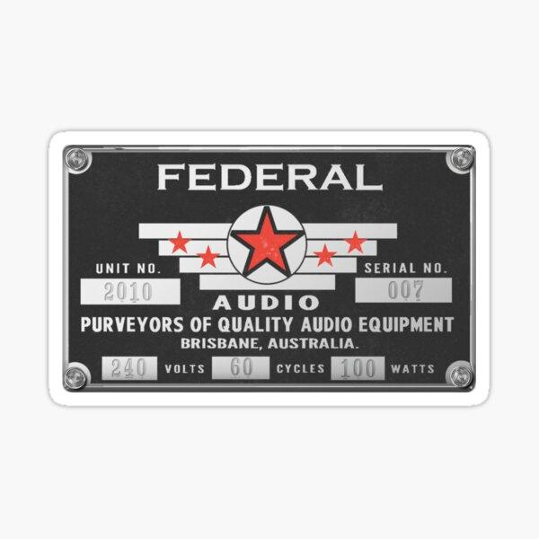 Federal Faceplate Sticker