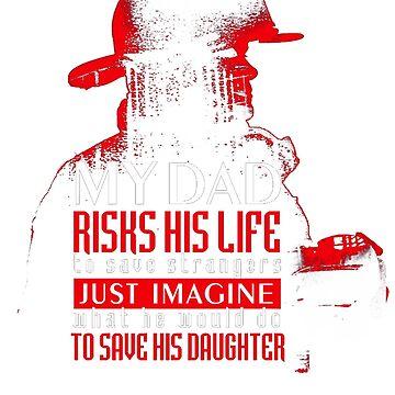 Fire man firefighter t-shirt by mazukast