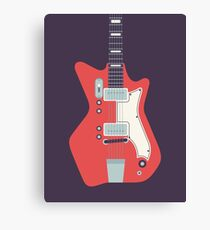 Jack White JB Hutto Montgomery Ward Airline Guitar (Black) Canvas Print