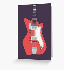 Jack White JB Hutto Montgomery Ward Airline Guitar (Black) Greeting Card