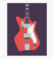Jack White JB Hutto Montgomery Ward Airline Guitar (Black) Photographic Print