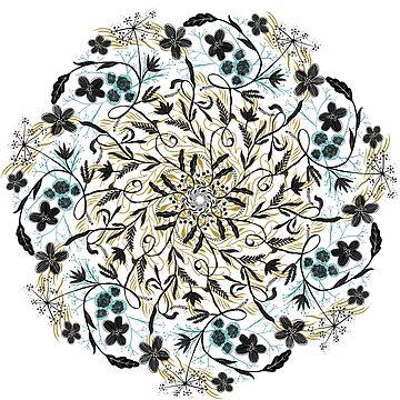 Floral Mandala by erdavid