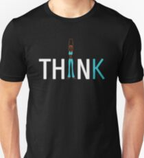 Slim, fit and thin, think being thin and healthy Unisex T-Shirt