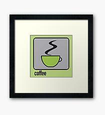 coffee green Framed Print