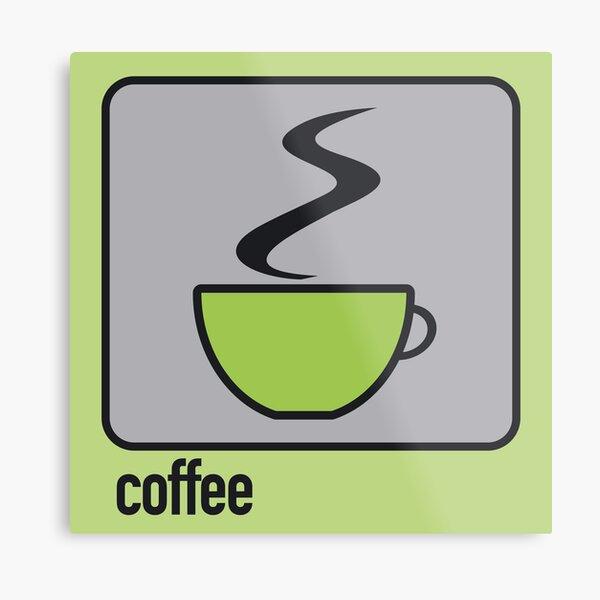coffee green Metal Print