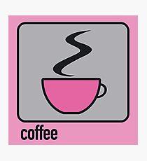 coffee pink Photographic Print