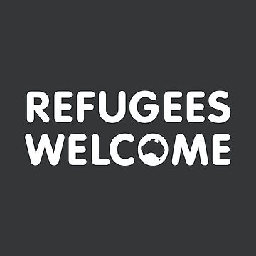 Refugees Welcome Australia (White) by mbianchi