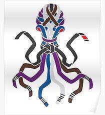 BJJ Brazillian Jiu-jitsu belt Octopus Poster