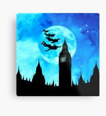 Magische Aquarellnacht - Peter Pan Metalldruck