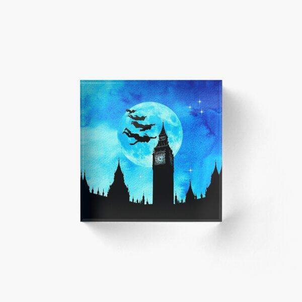 Magical Watercolor Night - Peter Pan Acrylic Block