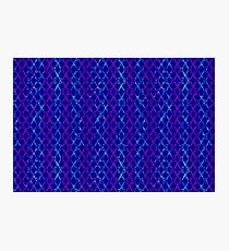 Blue Scissor Stripes Photographic Print
