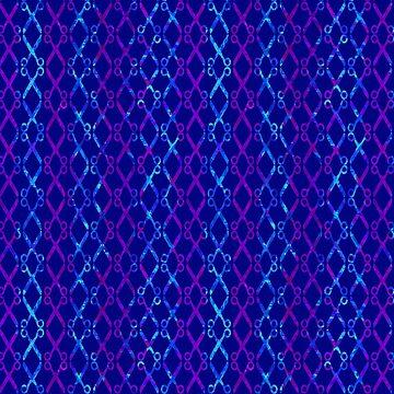 Blue Scissor Stripes by Gravityx9