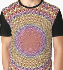 Trippy Optical Illusion Op Art Graphic T-Shirt