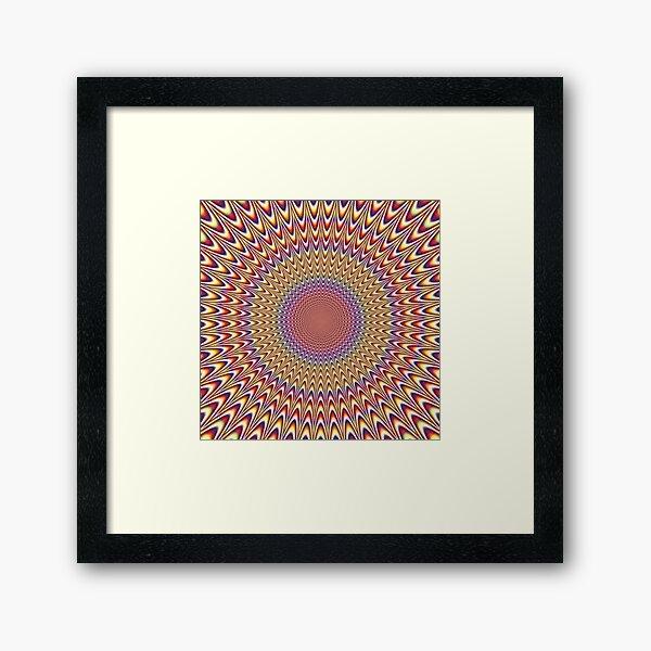 Trippy Optical Illusion Op Art Framed Art Print