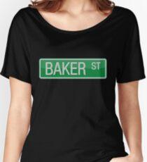 002 Baker Street road sign Women's Relaxed Fit T-Shirt