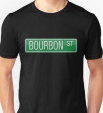 003 Bourbon Street road sign Unisex T-Shirt