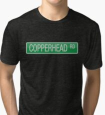 008 Copperhead Road street sign Tri-blend T-Shirt