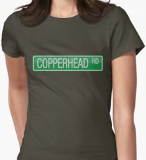 008 Copperhead Road street sign Womens Fitted T-Shirt