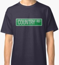 009 Country Road streets sign Classic T-Shirt