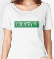 009 Country Road streets sign Women's Relaxed Fit T-Shirt