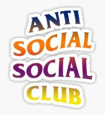 Anti Social Social Club Gradient Design Sticker