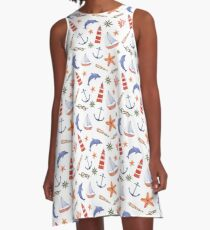Nautical A-Line Dress