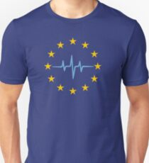 Pulse of Europe, heartbeat, EU stars, flag, European Union, frequency T-Shirt