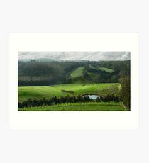 Adelaide Hill's in Green. Art Print