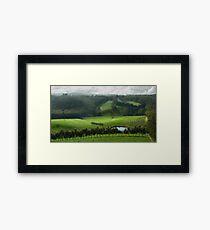 Adelaide Hill's in Green. Framed Print