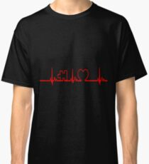Heart Life Line Autism Awareness Tshirt T-Shirt  Classic T-Shirt