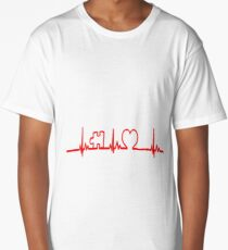 Heart Life Line Autism Awareness Tshirt T-Shirt  Long T-Shirt