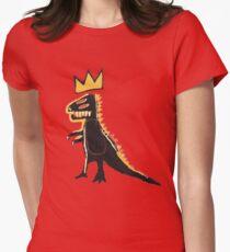basquiat dinosaur Womens Fitted T-Shirt