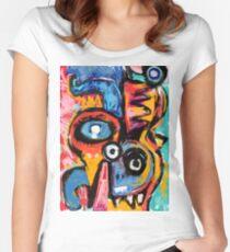 The king of snake Street Art Graffiti Women's Fitted Scoop T-Shirt