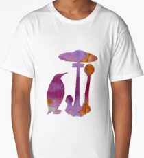 The Penguin And The Mushroom Long T-Shirt