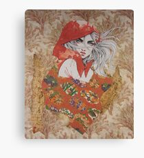Red With Her Hood Canvas Print