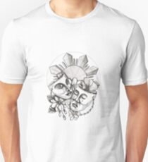 Drama Mask Hibiscus Sampaguita Flower Philippine Sun Tattoo Unisex T-Shirt