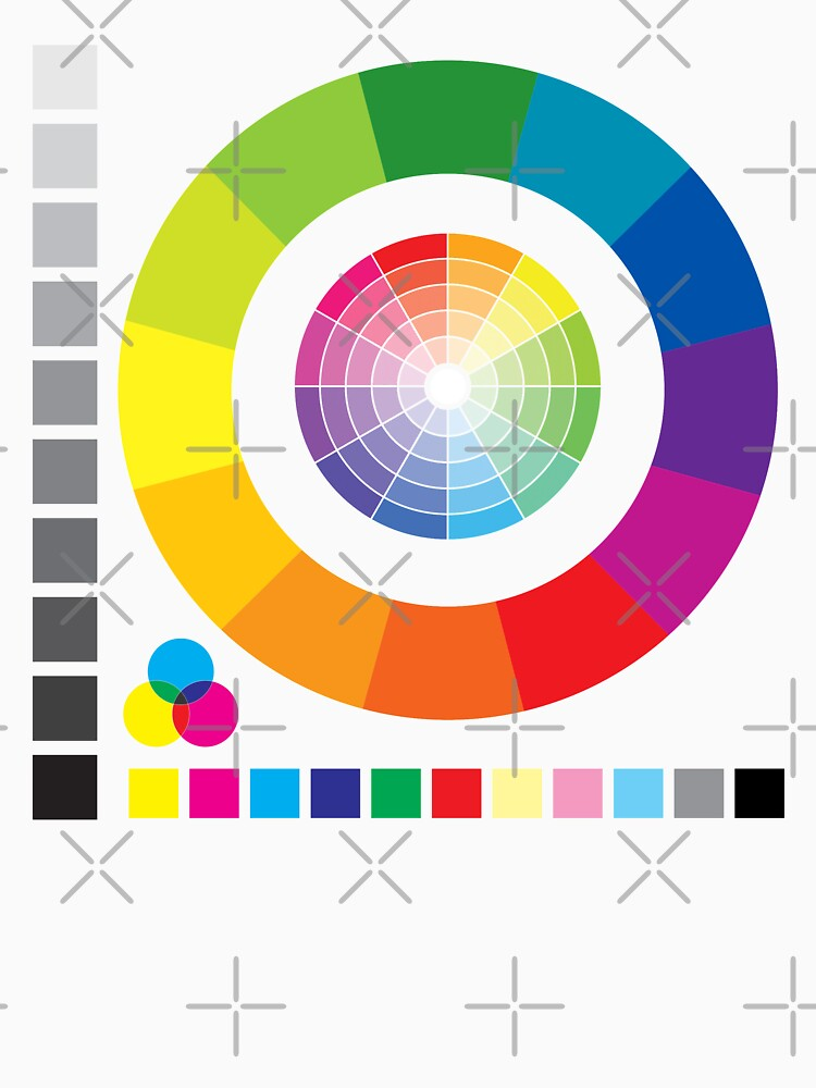 Color Wheel Chart Print Tester Unisex T Shirt By Spacealientees