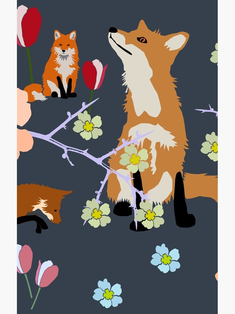 Fox in flowers by chihuahuashower