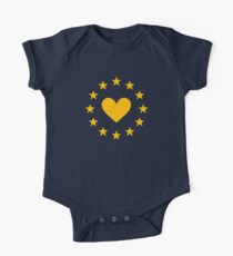 I love Europe, heart, heartbeat, EU stars, flag, European Union, Kids Clothes