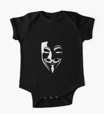 V for Vendetta Mask One Piece - Short Sleeve