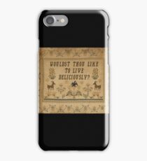 Smack My Stitch Up: Black Phillip iPhone Case/Skin