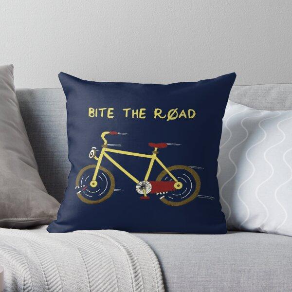 A Bike That Bites The Road Throw Pillow
