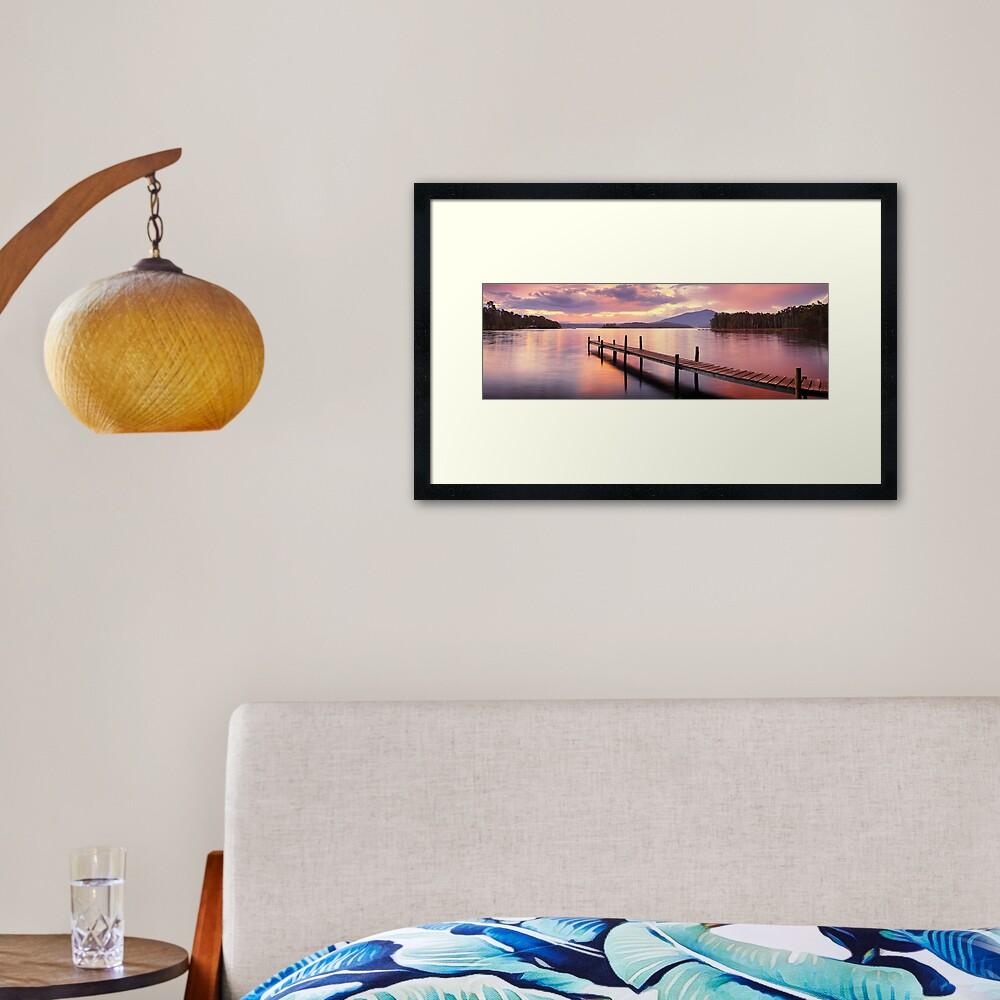 Lake Wallaga, Bermagaui, New South Wales, Australia Framed Art Print