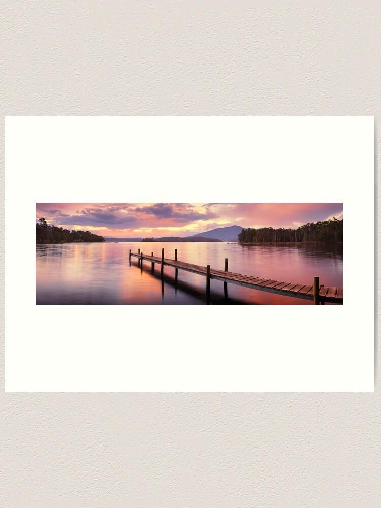 Alternate view of Lake Wallaga, Bermagaui, New South Wales, Australia Art Print