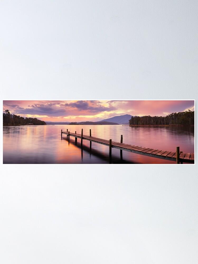 Alternate view of Lake Wallaga, Bermagaui, New South Wales, Australia Poster