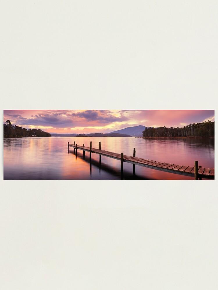 Alternate view of Lake Wallaga, Bermagaui, New South Wales, Australia Photographic Print