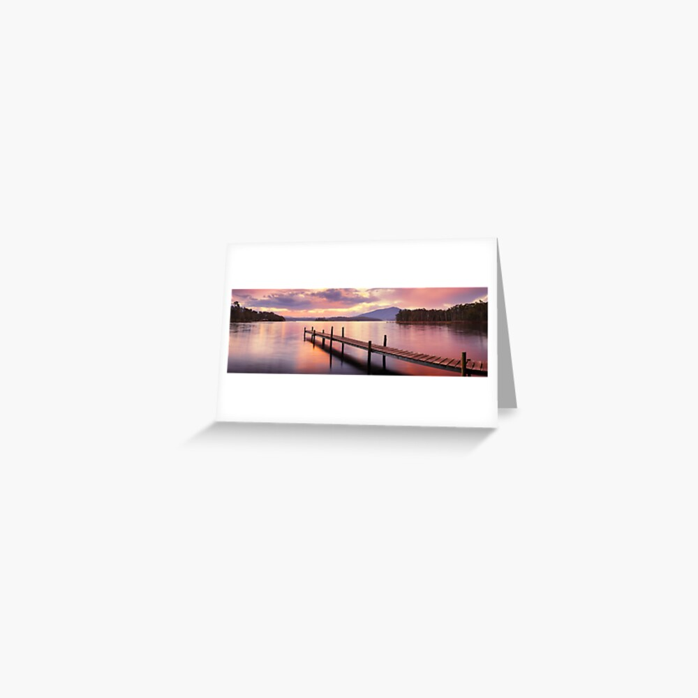 Lake Wallaga, Bermagaui, New South Wales, Australia Greeting Card