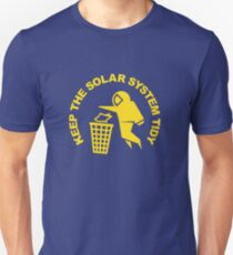 Keep the Solar System Tidy - Yellow Unisex T-Shirt